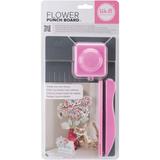 We R Memory Keepers Flower Punch Board: grey/pink_