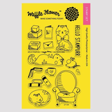 Waffle Flower Clear Stamps: Hello Stampurr_