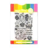 Waffle Flower Clear Stamps: Enveloper Listen_