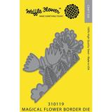 Waffle Flower Die: Magical Flower Border_