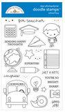 Doodle stamps - School boy_