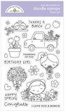Doodle stamps - Flower girl_