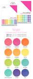 "Doodlebug - 12x12"" Textured Cardstock Pack: Bright_"