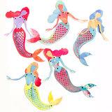 Spellbinders - Jane Davenport - Mermaid Paper Doll Stamp & Die Set_