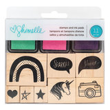 American crafts - Shimelle - Glitter Girl - Houten stempels en inktpads_