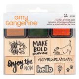 American crafts - Amy Tangerine - Houten stempels en inktpads_