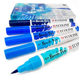 Ecoline Brushpen Set: Blue_