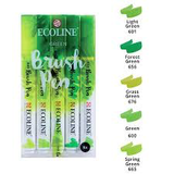 Ecoline Brushpen Set: Green_