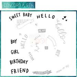 Concord & 9th - HEY THERE TURNABOUT Clear Stamp Set _