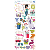 American Crafts - Shimelle - Accent and Phrase Stickers: Head in the Clouds_