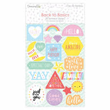 Dovecraft - Back to Basics - Over The Rainbow Flat Sentiment Stickers
