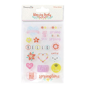 Dovecraft - Blooming Lovely Clear Stickers
