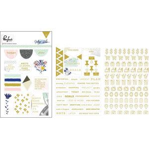 Pinkfresh - gold foiled stickers: Indigo Hills