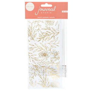 American Crafts - Journal Studio Collection - Pouch: Gold Floral