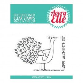 Avery Elle - Peacock - Clear stamp