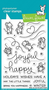 Lawn Fawn - Clear Stamps: Mice on Ice