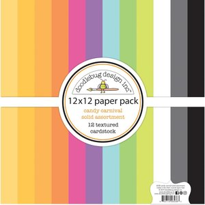 Doodlebug Textured Double-Sided Cardstock - Candy Carnival