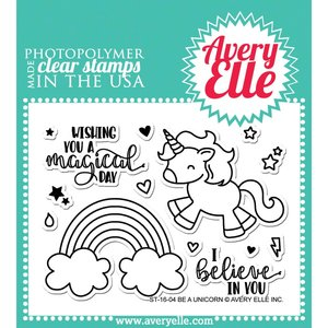 Avery Elle - Clear stamps - Be a Unicorn