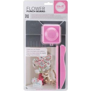 We R Memory Keepers Flower Punch Board: grey/pink