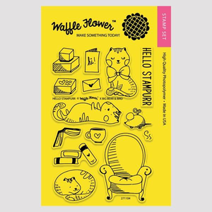 Waffle Flower Clear Stamps: Hello Stampurr