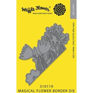 Waffle Flower Die: Magical Flower Border