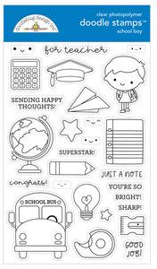 Doodle stamps - School boy
