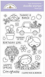 Doodle stamps - Flower girl