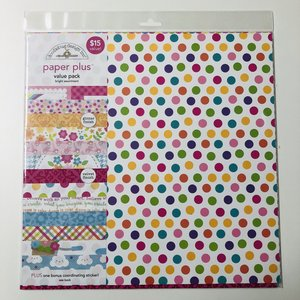 Doodlebug - 12'' x 12'' Paper Plus Value Pack: Bright