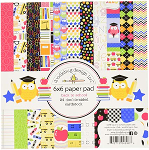"""Doodlebug 6"""" X 6"""" Back to School Double-Sided Paper Pad"""