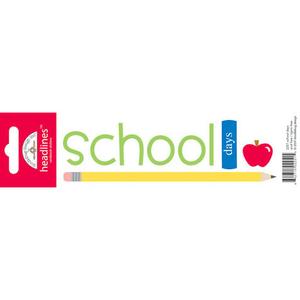 Doodlebug Design - Headlines Cardstock Stickers - School Days