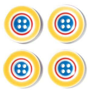 Doodlebug Design - Striped Buttons Primary