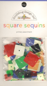 Doodlebug - Square Sequins Primary Assortment