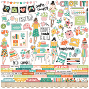 Simple Stories - Hey, Crafty Girl Combo Stickers