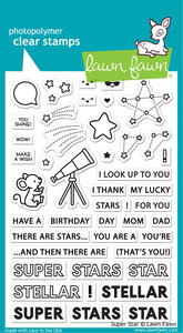 Lawn Fawn - Clear Stamps: Super Star