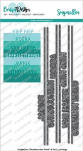 Carlijn design - Snijmallen - Randwoorden Feest