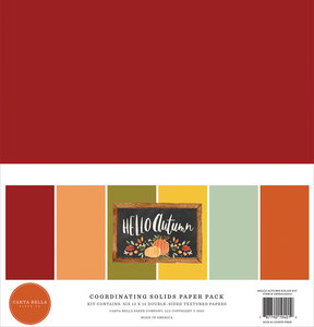 Carta Bella - 12x12 inch Coordinating Solids Paper Pack: Hello Autumn