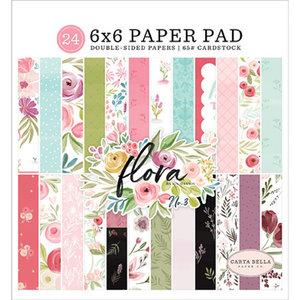 """Carta Bella - 6""""x6"""" Inch Paper Pad: Flora No.3"""