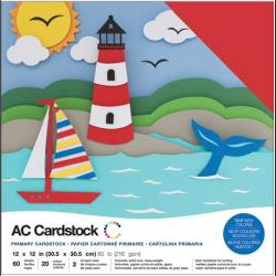 American Crafts - Cardstock Pack: Primaries