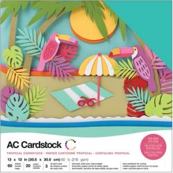 American Crafts - Cardstock Pack: Tropical