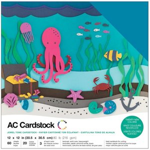 American Crafts - Cardstock Pack: Jewel