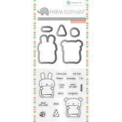 Mama Elephant Stamp & Die Set: Dos Amigos