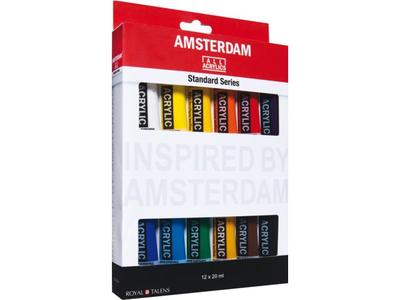 Amsterdam acrylverf Standard set 12 X 20 ml