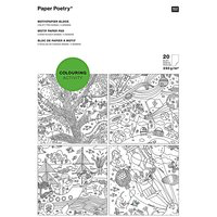 Paper Poetry by Rico Design papier blok: COLOURING ACTIVITY