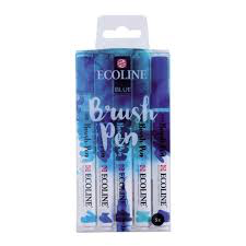 Ecoline Brushpen Set: Blue
