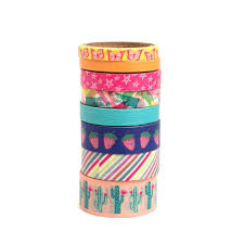 American Crafts - Journal Studio - Washi Tape Set: Colorful