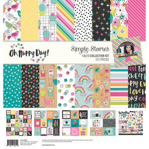 """Simple Stories Oh, Happy Day! 12"""" x 12"""" Collection Kit"""