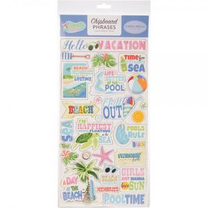 Carta Bella - Chipboard Phrases: Summer Splash