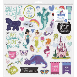 American Crafts - Shimelle - Head in The Clouds Collection - Chipboard Stickers