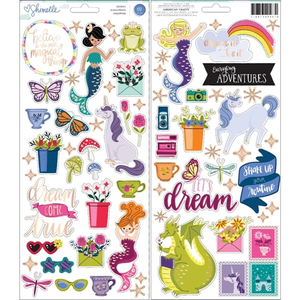 American Crafts - Shimelle - Accent and Phrase Stickers: Head in the Clouds