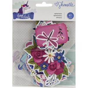 American Crafts - Shimelle - Ephemera Cardstock Die-Cuts: Head In The Clouds